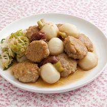 豆腐入りつくねの梅照り煮