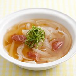 新玉ねぎと梅干しのスープ