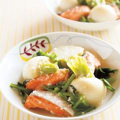 鮭とかぶの塩麹煮