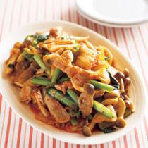 豚肉と小松菜のキムチ炒め