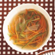 彩り野菜のジンジャースープ