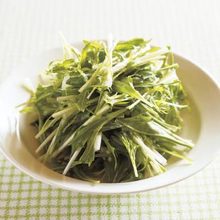水菜のおろし玉ねぎサラダ