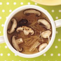 2種のきのこのスープ
