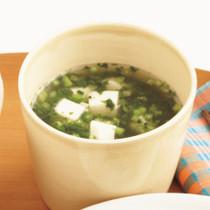 モロヘイヤと豆腐のスープ