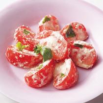 トマトと豆腐のカプレーゼ