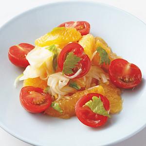 トマトとオレンジのサラダ