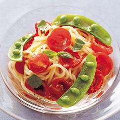 フレッシュトマトソースの冷製パスタ