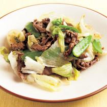 レタスと牛肉のオイスター炒め