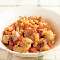 とり肉と大豆の甘辛しょうが煮