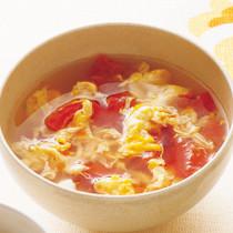 トマトと卵の酸辣湯(サンラータン)風