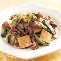 牛肉ときゅうりの中華炒め