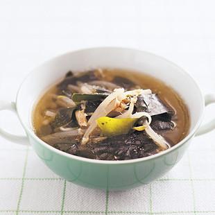 もやしとツナのスープ