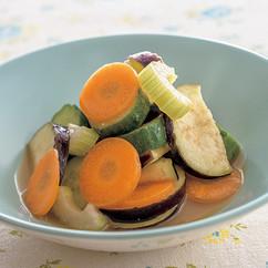 夏野菜の即席ポン漬け