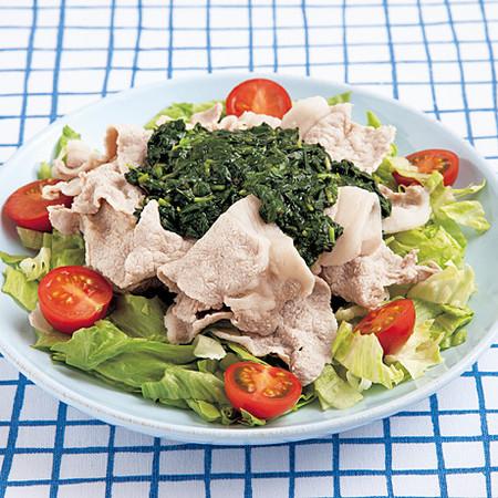 豚しゃぶサラダ ねばねばソース