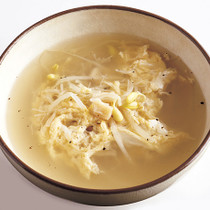 豆もやしと卵のスープ