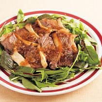 牛ステーキのおかずサラダ