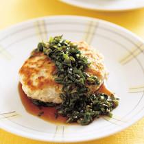 豆腐ハンバーグ にらソース