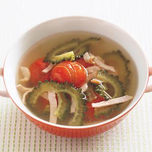 ゴーヤーとミニトマトのスープ