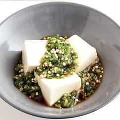 豆腐のオクラあんかけ