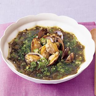 あさりと高菜のスープ