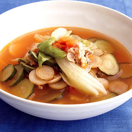 夏野菜のトマトスープ