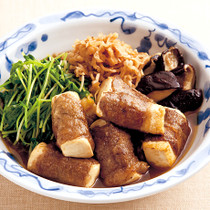 豆腐の牛肉巻き すき焼き風