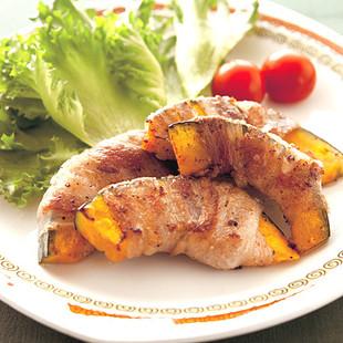 かぼちゃの豚肉巻き焼き