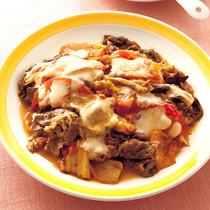 牛肉のキムチチーズ焼き