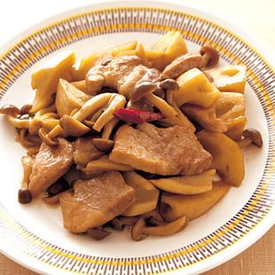 豚肉とれんこんの甘辛煮