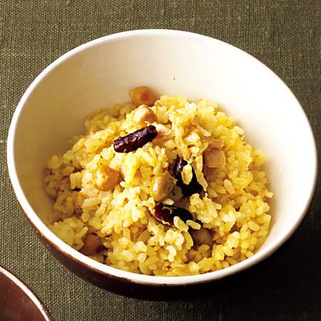 ツナ缶と豆のカレー炊き込みご飯