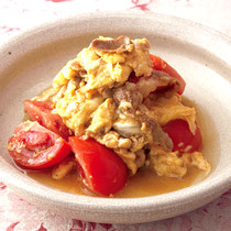 豚とトマトの卵炒め