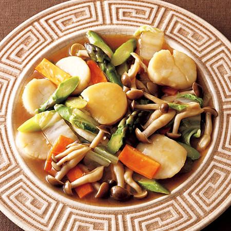 帆立と野菜の中華炒め風