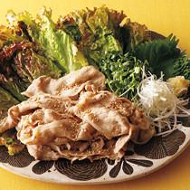 豚しゃぶの香味野菜巻き