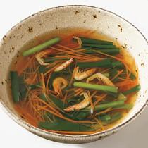 にらと桜えびのスープ