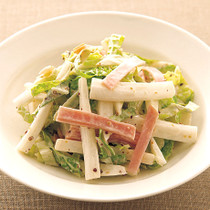 白菜とハムのマヨサラダ