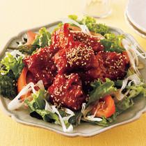 韓国風ごちそうから揚げサラダ