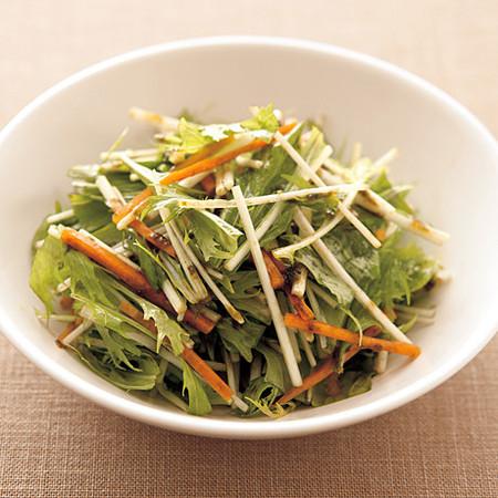 水菜とにんじんののりドレッシング