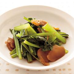 小松菜とザーサイのレンジ蒸し