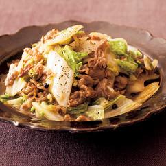 白菜と牛肉のこしょう炒め