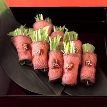 水菜の牛肉巻き
