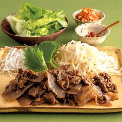 韓国風こんにゃく焼き肉