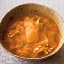 キムチ納豆の大根麺