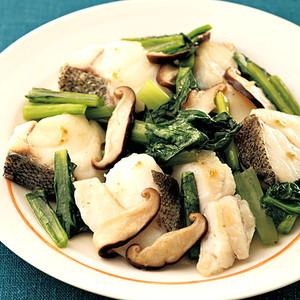 たらと小松菜のゆずこしょう炒め煮