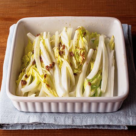 白菜のアンチョビー焼き