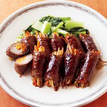 たっぷり野菜の牛肉巻き