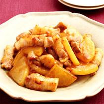 豚肉と大根の甘辛炒め