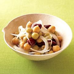 豆と玉ねぎのサラダ