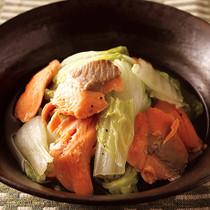 塩鮭と白菜の重ね蒸し