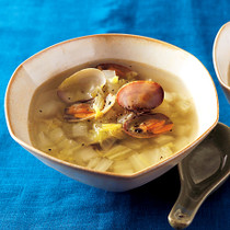 白菜とあさりのスープ