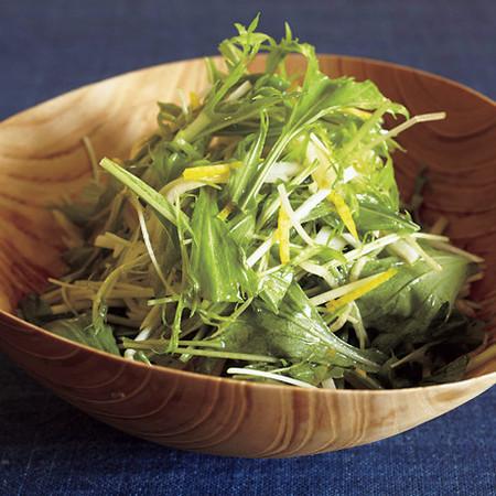 水菜と大根のサラダゆずドレッシング